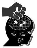 El azotar y daño cerebral Imágenes de archivo libres de regalías