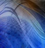 El azul abstracto agita el fondo ilustración del vector