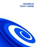 El azul abstracto curva el fondo