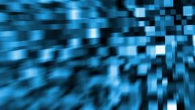 El azul abstracto de HD cubica el 2.o animztion del fondo movimientos almacen de video