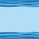 El azul agita el fondo Foto de archivo libre de regalías