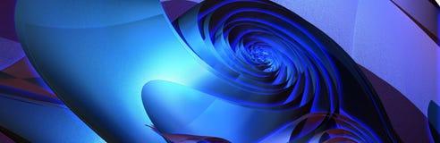 El azul caliente se levantó Imagen de archivo libre de regalías