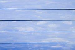 El azul coloreó el fondo de madera, fondo de madera agradable para los diseñadores Tabla de la madera como fondo Fotografía de archivo
