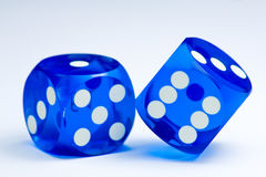 El azul corta en cuadritos Fotografía de archivo libre de regalías