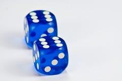 El azul corta en cuadritos Imágenes de archivo libres de regalías