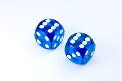 El azul corta en cuadritos Imagen de archivo libre de regalías