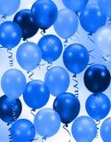 El azul del partido hincha el fondo Imágenes de archivo libres de regalías