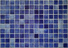 El azul embaldosa el fondo Imágenes de archivo libres de regalías