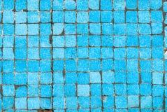 El azul embaldosa el fondo Foto de archivo libre de regalías