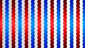 El azul entrelazado brillante inconsútil y las rayas rojas del zigzag texturizan en Gradated Gray Background ilustración del vector