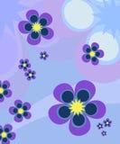 El azul florece el fondo Fotos de archivo