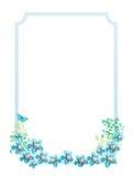 El azul florece el fondo de la vendimia libre illustration
