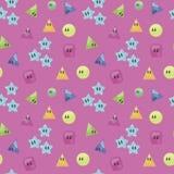 El azul inconsútil brillante rosado del caramelo del modelo coloreó el lig lindo del lustre del dacey del cuadrado del triángulo  stock de ilustración