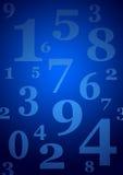 El azul numera el fondo Foto de archivo