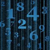 El azul numera el fondo Fotografía de archivo libre de regalías