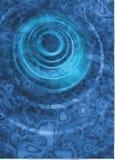 El azul ondula el fondo digital Imágenes de archivo libres de regalías