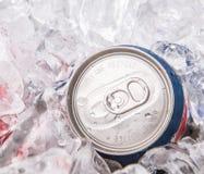 El azul puede las bebidas de la cola II Imagen de archivo