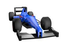 El azul rinde el coche Fotografía de archivo