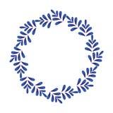 El azul sale de la ronda decorativa ilustración del vector