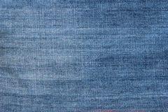 El azul texturizado rayado utilizó el fondo de lino del vintage del dril de algodón de los vaqueros Foto de archivo libre de regalías