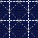 El azul y el blanco acolcharon el modelo inconsútil geométrico de la tela, vector stock de ilustración