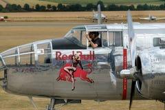 El B-25 norteamericano Mitchell es un bombardero bimotor, medio americano manufacturado por la aviación norteamericana imagenes de archivo