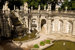El baño de la fuente de ninfas en Zwinger Fotos de archivo libres de regalías