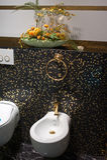 El baño, interior, adorna Imágenes de archivo libres de regalías