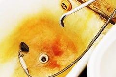 El baño oxidado Fotografía de archivo libre de regalías