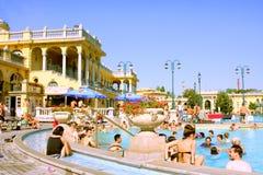 El baño termal de Széchenyi - Budapest - Hungría Imagenes de archivo