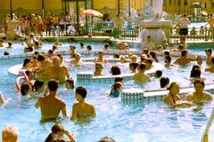 El baño termal de Széchenyi - Budapest - Hungría Fotos de archivo