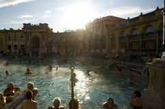 El baño termal de Szechenyi, Budapest Imagen de archivo libre de regalías
