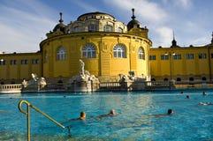 El baño termal de Szechenyi, Budapest Imágenes de archivo libres de regalías