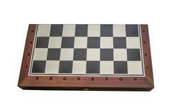 El backgammon se cerró, aislado en el fondo blanco fotos de archivo