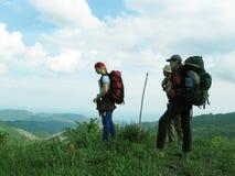 El Backpacking en la Crimea Imágenes de archivo libres de regalías