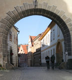 El Backpacking a través de Europa Imagen de archivo libre de regalías