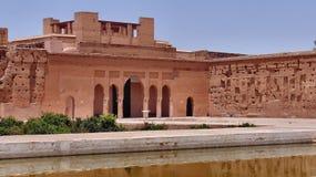 EL Badi Palace Stockfotografie
