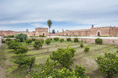 El Badi Palace gardens at Marrakech, Morocco Royalty Free Stock Photo