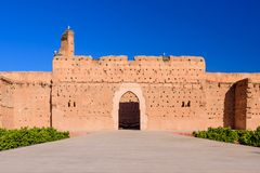 El Badi Palace in Marrakech medina royalty free stock image