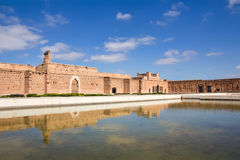 El Badi Palace in Marrakech Royalty Free Stock Images
