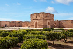 El Badi Palace, Marrakesh, Morocco Royalty Free Stock Photos
