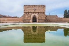 El Badi Palace Pavilion at Marrakech, Morocco stock photos