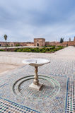El Badi Palace yard at Marrakech, Morocco Stock Image