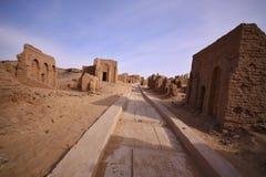 El Bagawat cmentarz, Kharga oaza, Egipt zdjęcie royalty free