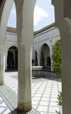 El Bahia Palace, Marrakech. The small courtyard in the palace of Ba Ahmed Royalty Free Stock Photos