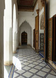 El Bahia Palace, Marrakech. The small courtyard in the palace of Ba Ahmed Royalty Free Stock Photography
