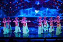El bailarín de la corte--La magia mágica histórica del drama de la canción y de la danza del estilo - Gan Po Foto de archivo libre de regalías