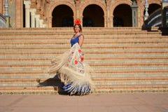 El bailarín del flamenco en un día soleado foto de archivo