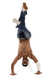El bailarín del salto de la cadera freezed sus movimientos foto de archivo libre de regalías
