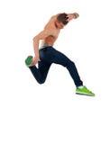 El bailarín descamisado salta Fotografía de archivo libre de regalías
